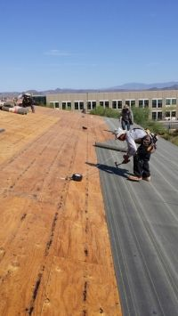 Commercial Pitched Roof Installation